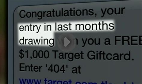 spam text message offers gift card to target - Target Gift Card Text Message