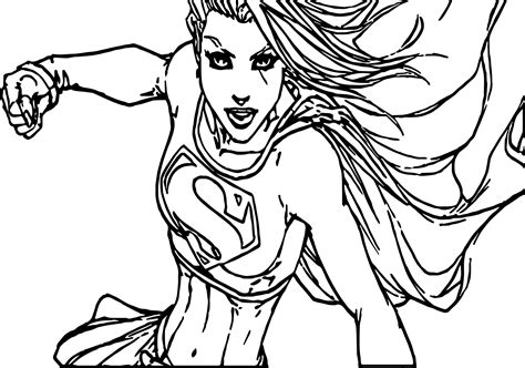 Coloring Pictures Of Girl Superheroes | superman girl superheroes super hero coloring page