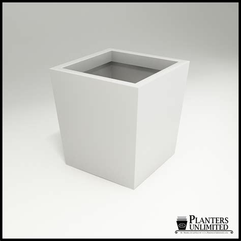 modern tapered fiberglass commercial planter 30in l x 30in