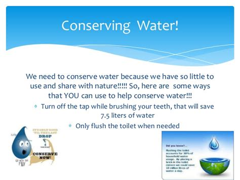 Water Conservation Powerpoint Save Water Powerpoint Presentation Free