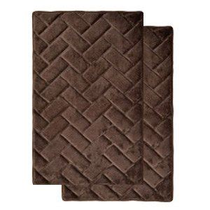 Amazon Com Chocolate Brown Memory Foam Bath Mat Rug Chocolate Brown Bathroom Rugs