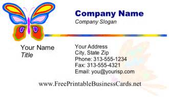 printable business card templates free butterfly business card