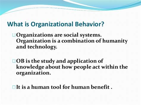 Modification Meaning And Definition by Chapter 1 Organizational Behaviour