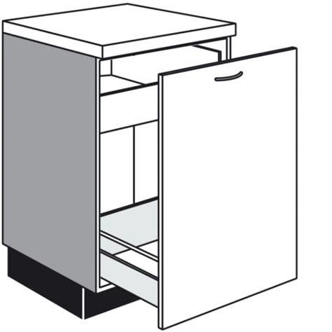 einbau schubladen schrank unterschrank mit 1 auszug und 1 innenschubkasten
