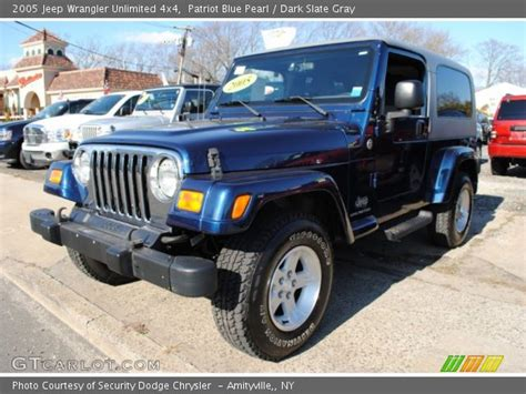 2005 jeep unlimited interior patriot blue pearl 2005 jeep wrangler unlimited 4x4