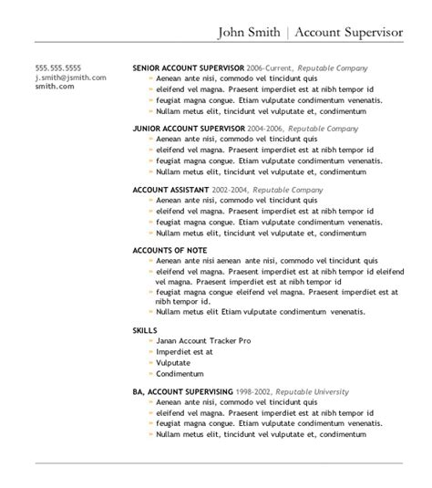 Great Resume Templates For Microsoft Word by 7 Free Resume Templates