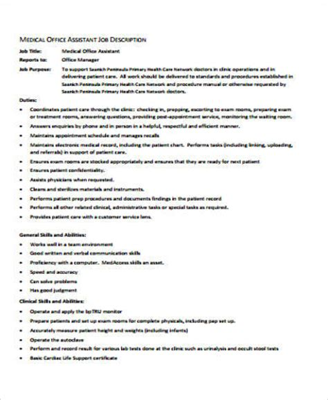 medical office manager job description anuvrat info