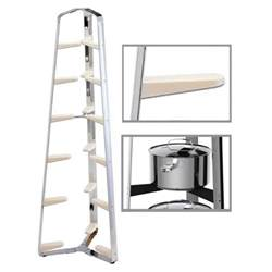 Pot Pan Stand Hahn 6 Tier Pan Stand Ivory