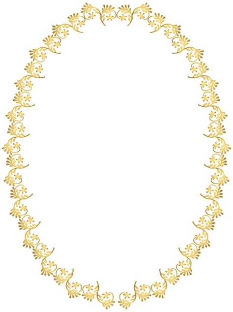 transparent oval frames gold oval frame clipart collection