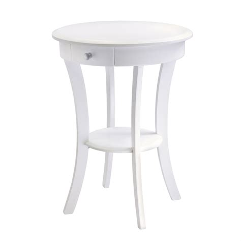 white end tables shop winsome wood white end table at lowes com