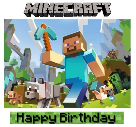 minecraft happy birthday card template printable if you a minecraft fan in your house then you might