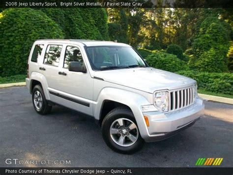 2008 jeep liberty silver bright silver metallic 2008 jeep liberty sport pastel