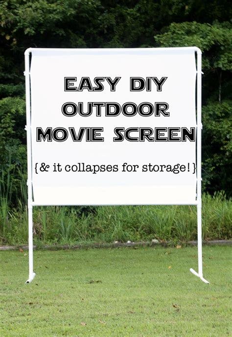 backyard projector screen diy how to make an easy diy outdoor movie screen