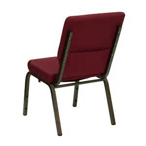 Hercules church chair 18 5 quot burgundy with gold vein frame from quality