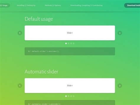 simple jquery plugin template unslider a simple jquery carousel slider animation