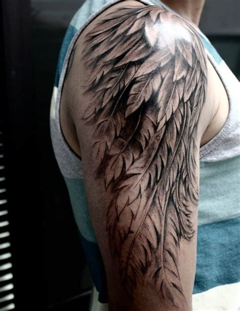 angel wing tattoo for men the 25 best wing ideas on mens arm