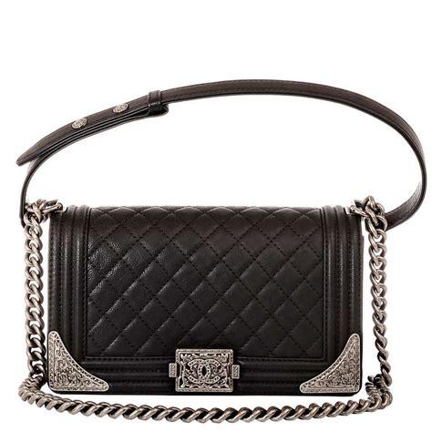Chanel Boy Meleton 1 chanel black calfskin medium quot dallas quot boy bag at 1stdibs