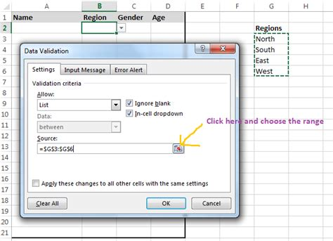 Data Validation In Excel Adding Drop Down Lists In Excel Data Validation Template