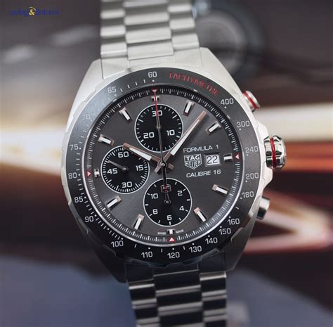 Tagheuer F1 Cal 16 Silver tag heuer s formula 1 cal 16 44mm chrono steel