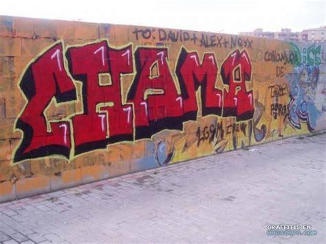 chamã gieã en graffiti de chama en granada subido el miercoles 4 de