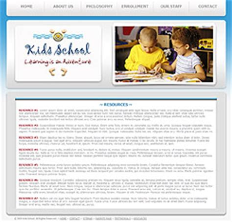 Pre School Website Template 237 Pre School Education Template Preschool Template Playgroup Website Templates