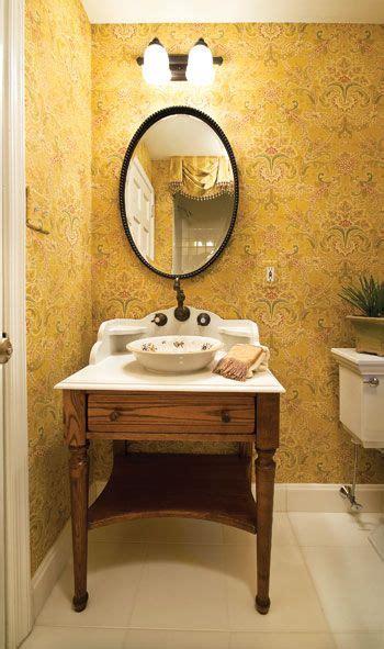 powder room sinks and vanities the powder room s furniture style vanity with vessel sink