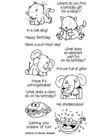 birthday themed riddles birthday riddles clear st set 11354lc