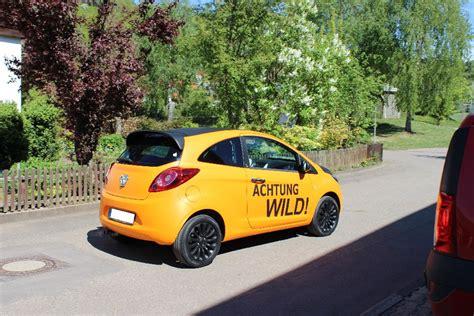 Autofolierung Schweiz by Folierung Ford Ka In Orange Matt Und Schwarz Matt