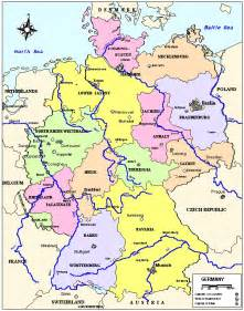 map of germany with cities free printable maps