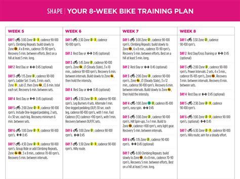 To Cycling Plan by Cycling Plans 8 Week Bike Plan Shape