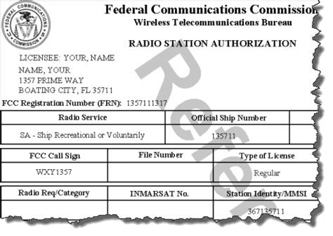 Fcc Search Fcc Radio License
