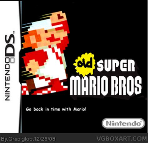 old super mario bros nintendo ds box art cover by gracigloo