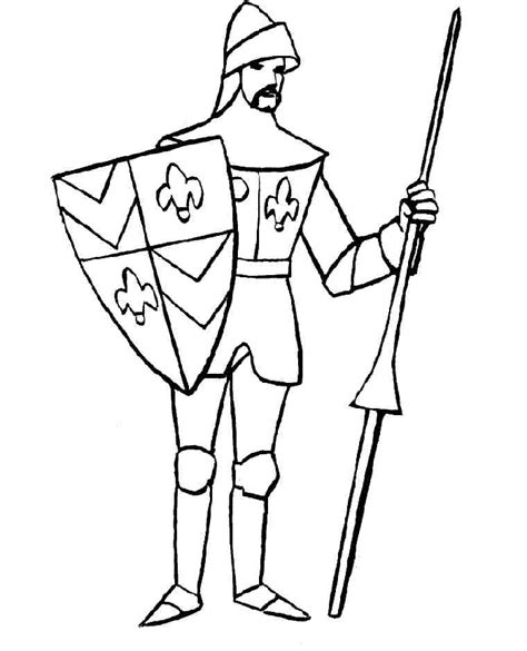 Knight Coloring Pages Coloringpagesabc Com Knights Colouring Pages