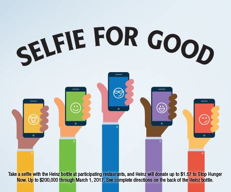 March 1 4 End 1 your best selfie yet snap a photo and help end world hunger during your next meal out rise