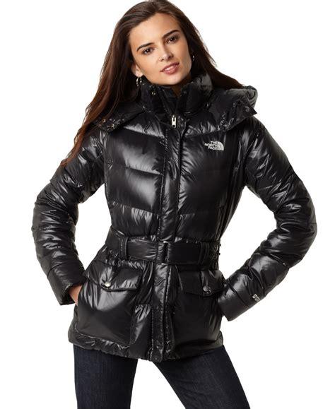 black the north face menlo down coat shiny nylon