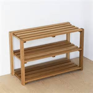 shoe rack oak shoe rack by a b furniture notonthehighstreet com