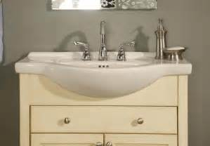 narrow depth vanity for a bathroom sink