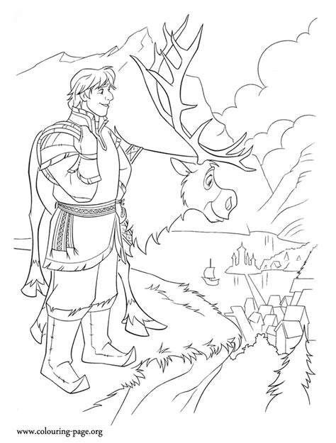 frozen coloring pages kristoff free coloring pages of christoph and sven