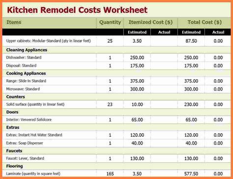 remodeling estimate 6 kitchen remodel estimator marital settlements information