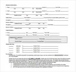 exercise contract template membership application template affordablecarecat