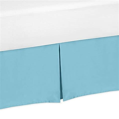 aqua bed skirt sweet jojo designs chevron bed skirt in turquoise bed