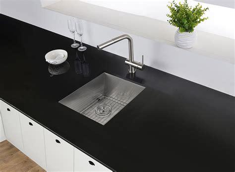 ruvati   undermount  gauge  raduis bar prep kitchen sink stainless steel single bowl