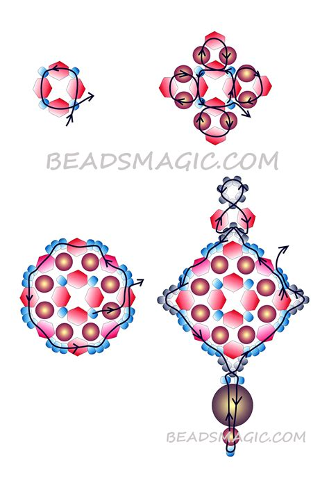 free beaded earring patterns pattern for netted purple necklace bead netting