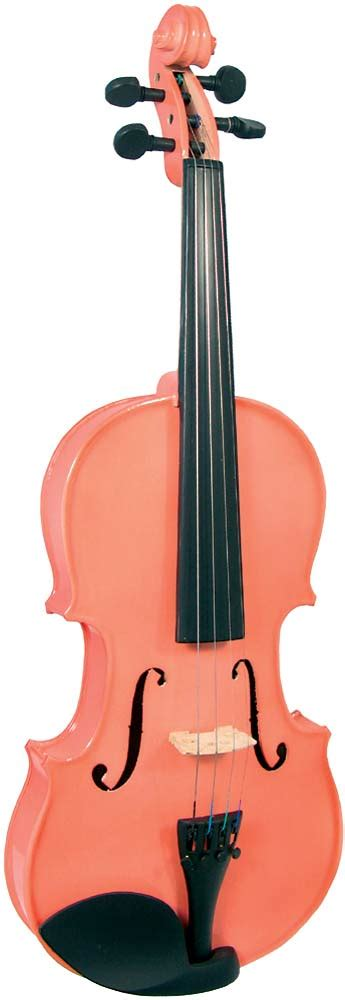 colored violins blue moon vg 105 pink violin 3 4 size hobgoblin usa