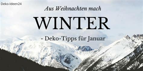 Deko Im Januar by Diy Do It Yourself Deko Ideen24 De