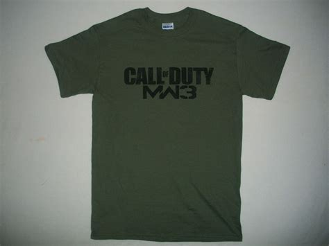 T Shirt Call Of Duty Mw3 Blue new cod call of duty modern warfare 3 mw3 t shirt