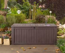 aufbewahrungsbox garten wasserdicht garden storage bench box large 570l keter resin furniture