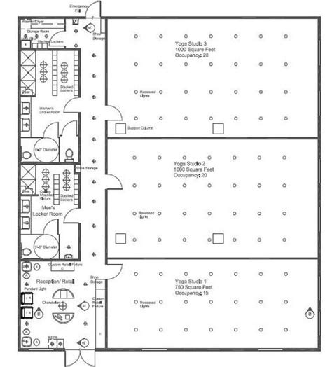 yoga studio floor plan horizon yoga studio ellen lutleyinterior design