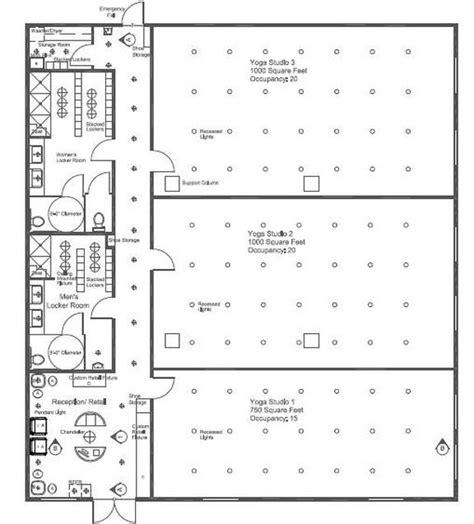 Yoga Studio Floor Plan | horizon yoga studio ellen lutleyinterior design