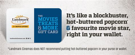 Landmark Cinema Gift Cards Canada - movie gift cards packages landmark cinemas